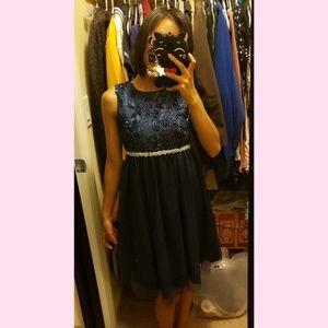 Dark blue formal dress size 12 girls